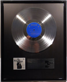 """The Rolling Stones - The Rolling Stones Greatest Hits  - 12"""" German Decca Record platinum plated record by WWA Awards"""