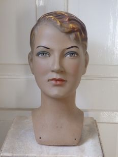 Life-size bust, window display figure boy