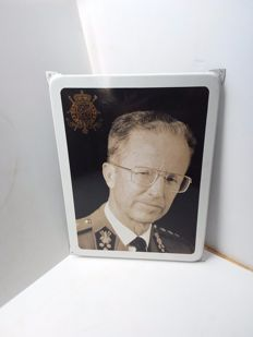 King Baudouin - enamel sign from Belgium - 1991.