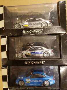 Minichamps - Scale 1/43 - lot with 3 models: Mercedes Benz DTM C class and CLK coupe Huisman Albers and Raikkonen
