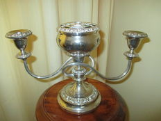 Silver plated Candelabra with Rosebowl. (Lanthe)