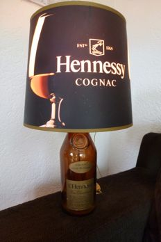 Hennessy Cognac bottle lamp - nice warm colors