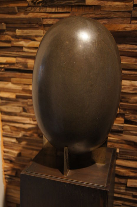 Unique large Shiva Lingam and 4 smaller - 33 kg (5)