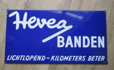 Enamel advertising sign Hevea tires - approx. 1950s