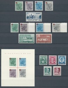 Germany - allied occupation 1949 - Selection French zone - Michel 42A/45A, 46I, 42A/45A, 49/50, blok 1I, 44/48
