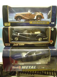 Ricko/Maisto/Revell - Scale 1/18 - BMW 328 Roadster 1936, BMW 502 Roadster 1955 and BMW 850i Coupe