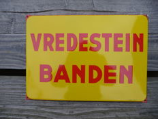 Enamel VREDESTEIN Board from the 1960-70s.