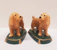 A set Art Deco English Cocker Spaniel bookends