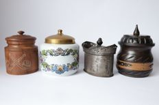 4 tobacco jars, 20th century