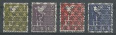 "Germany, allied occupation 1948 – American/British zone/Freimarken with ""netz"" overprint II – Michel AI/II, AII/II, AIII/II, AIII/II"