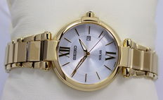 SEIKO – Ladies Solar Powered Gold Plated – Watch – New & Mint Condition