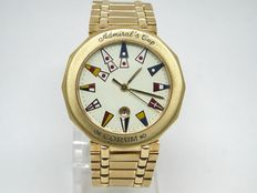 Corum Admirals cup -18 carat yellow gold - ladies watch - 34mm