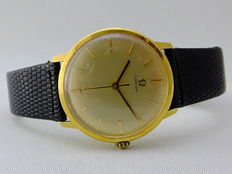 omega Classic 18 kt gold men's watch 1970's