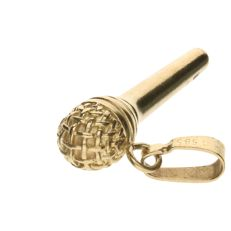 14 kt gold pendant in the shape of a microphone