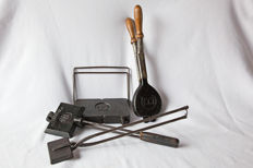 Four waffle irons including by Hart and Le Parisien