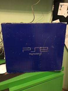 Ps2 in box with 42 games