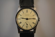Laco- vintage art deco men,s watch from 1930,s in near mint condition