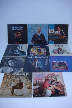 13 Jazz and Blues LP's (2 double LP's)