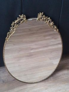 Classic Mirror with Copper Crest