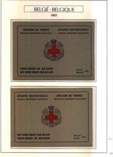 Belgium 1953/1977 Red Cross Booklets, special sheets