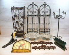 Collection of ornamental metal objects ca.1950