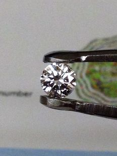 0.41 ct. brilliant cut diamond RW+( F ) loupe clean ( LC )