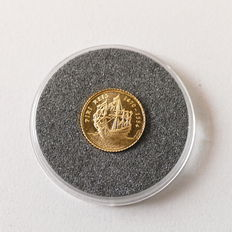 """Turkey - The smallest gold coin in the world """"Piri Reis"""" 1/25 ounce 1997"""