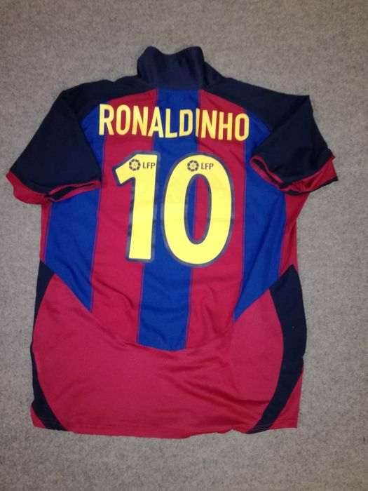 Authentic FC Barcelona home shirt 2003 2004 - Ronaldinho  10 - size ... 97fc03987