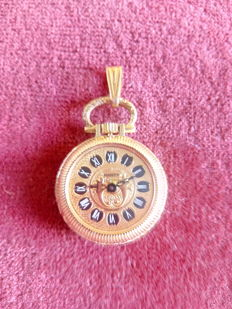 Swiss vintage pendant watch, hand wind, never used, 1960 17 ruby movement