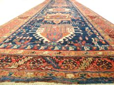 "Semi-antique Karaj – 290 x 89 cm – ""Persian runner in wonderful condition""."