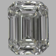 0.50 ct IGI EMERALD CUT  Brilliant  F VS2  - Serial# 1659-original image-10x