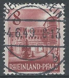 Germany, allied occupation 1948 – French zone/Rheinland Pfalz Freimarken – Michel 36