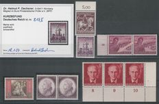 German Reich 1942 – Selection plate errors – Michel 810II, 819II, 825I, 856I, 890I, 907III