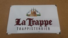 Enamel advertising sign for La Trappe - period late 20th century/early 21st century.