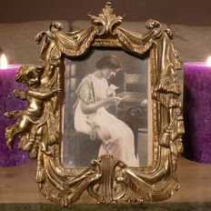 Beautiful bronze photo frame - Approx. 1930