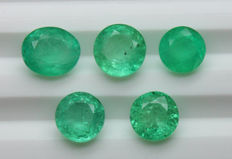 Lot of 5  Emerald - 5.82 ct