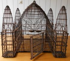Iron bird cage in the shape of a castle - 1st half of the 20th century