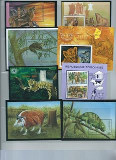 Fauna - motif collection on stockcards.