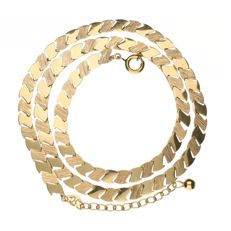 14 kt Yellow gold fantasy link necklace - 40 cm