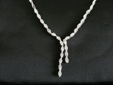 Collier white gold with diamonds