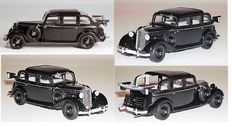 Esval models - Scale 1/43 - Mercedes-Benz 260D Pullman Landaulet. Open rear cover - black
