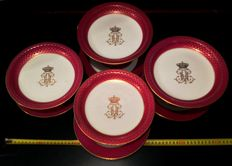 Sevres - 4 compotes & 4 plates, , 2nd Empire