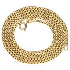 Yellow gold link necklace in 18 kt - 61.7 cm