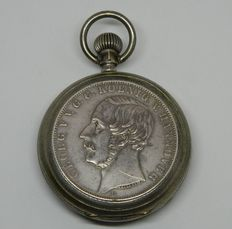 Germany, Hannover Thaler Coin  Pocket Watch 1886