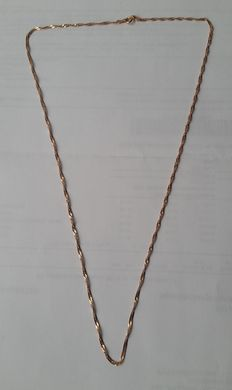 Women's necklace - 14 kt (585) red or rose gold.