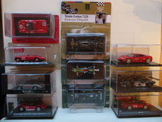 Various - Scale 1/43 - Lot with 10 racing car models: Lotus, Mercedes-Benz, Ferrari, Maserati & Rometsch