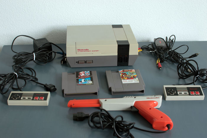 nintendo entertainment system action set nes with zapper the game