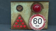 VINTAGE Taillight - Dutch, from old truck - 46 x 36 cm