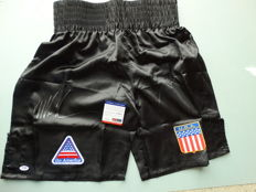 Mike Tyson Authentic Hand Signed Boxing Trunks Autographed PSA/DNA
