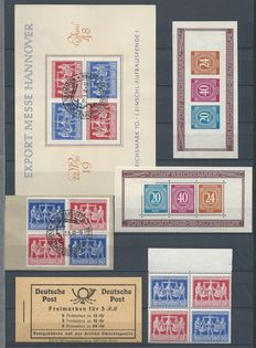 Germany Gemeinschaftausgabe 1948 - Selection of allied occupation - Michel block 12A/12B, Vzd1 (3x), MH50